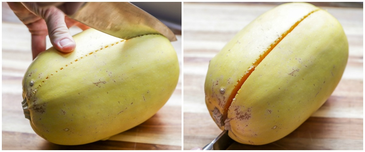 How to cut spaghetti squash