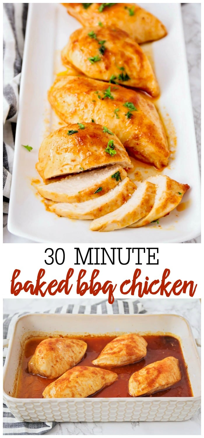 Oven Baked BBQ Chicken Breast Recipe