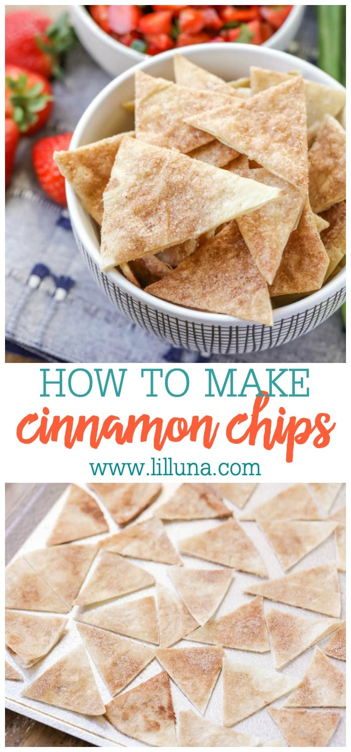 Homemade Cinnamon Chips made from tortillas