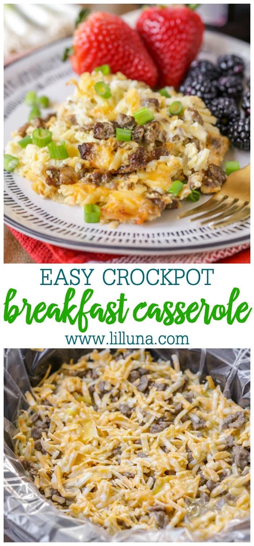 Easy Crockpot Breakfast Casserole Recipe
