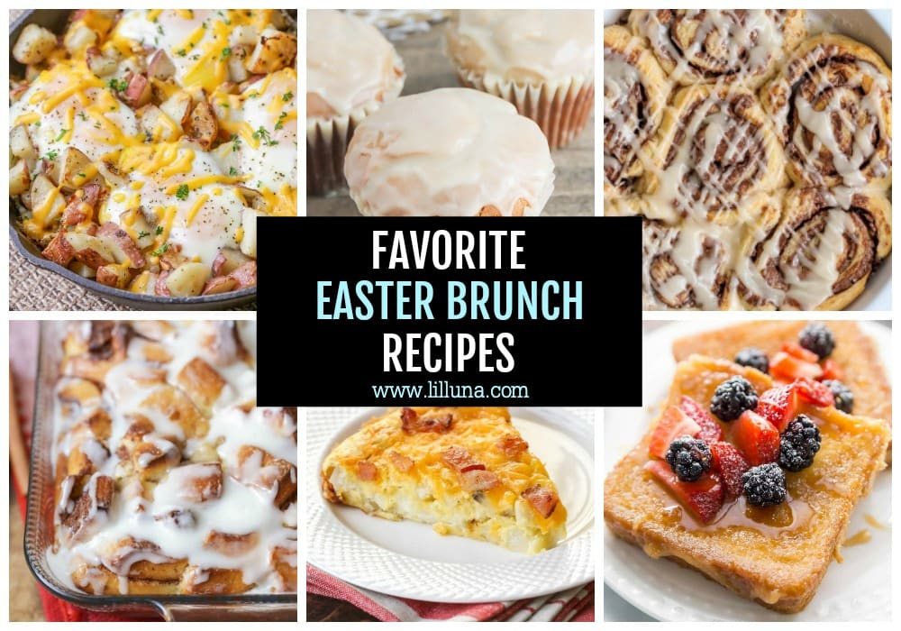 Collage of Easter Brunch Recipes