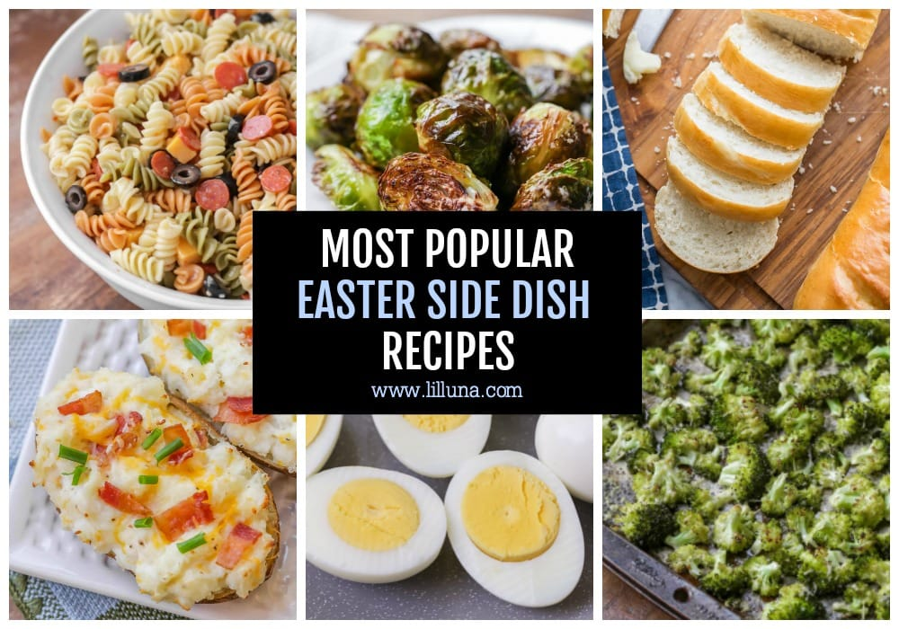 Collage of Easter Side Dish Recipes