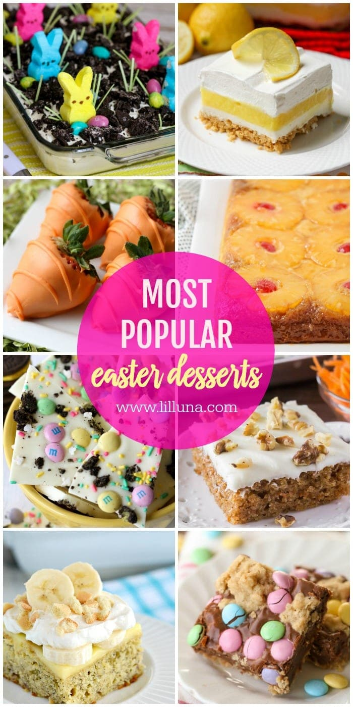 Most popular Easter desserts collage