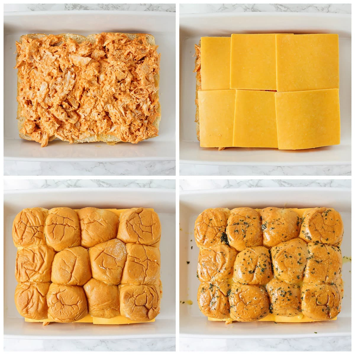 How to make buffalo chicken sliders process pics