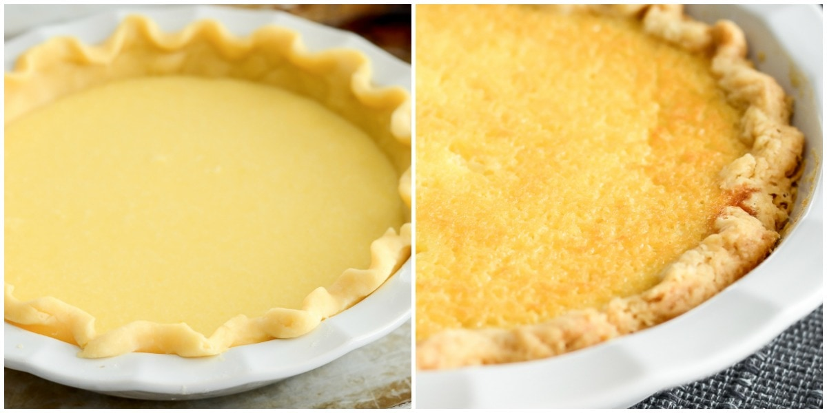Buttermilk pie recipe filling and crust pics