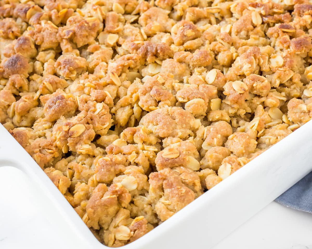 Peach crisp crumble topping
