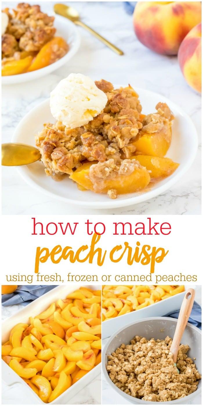 Old-fashioned Peach Crisp
