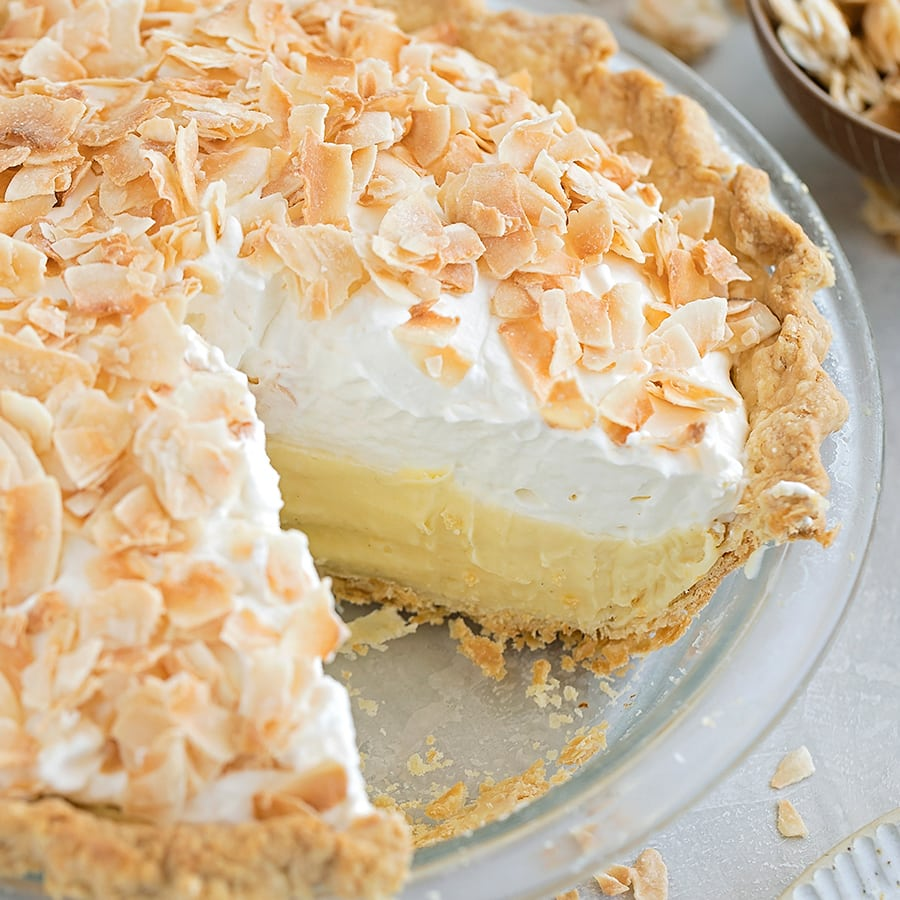 Pie Crust Recipe with Coconut Cream Pie