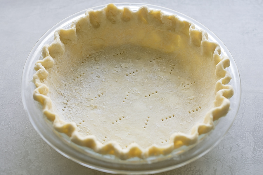 How to flute a pie crust pic