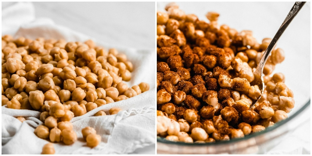 How to make roasted chickpeas process pics