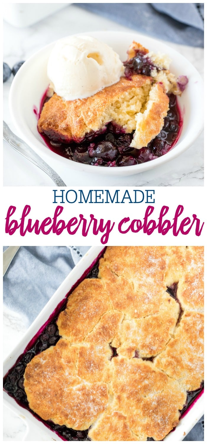 Collage for Blueberry Cobbler Recipe