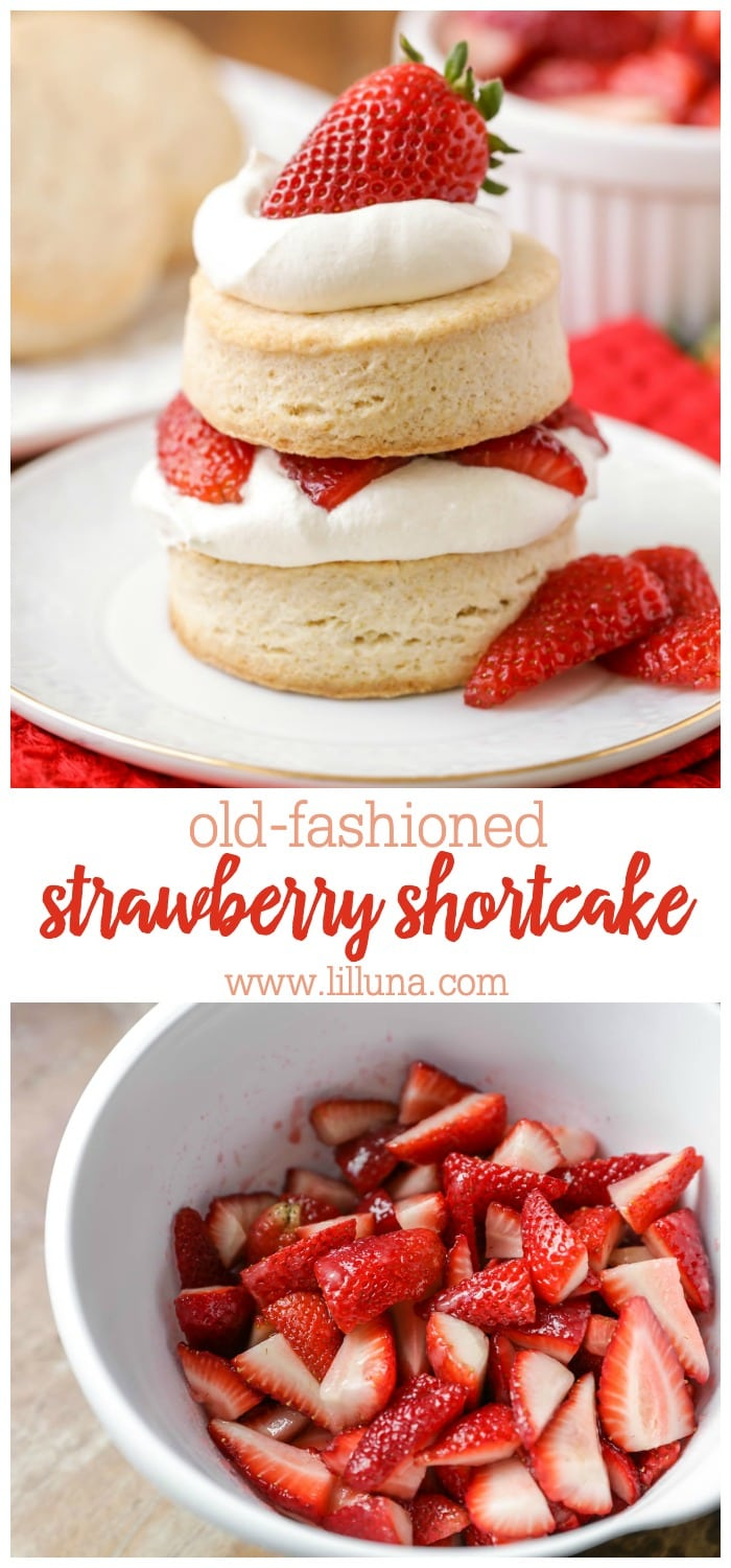 Collage for homemade strawberry shortcake