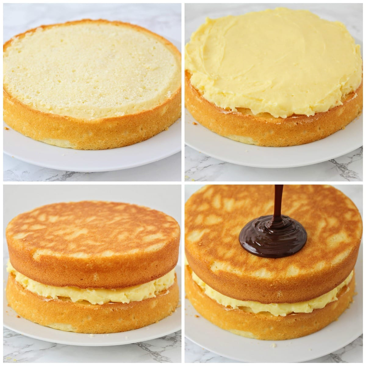 How to make Boston cream pie pics
