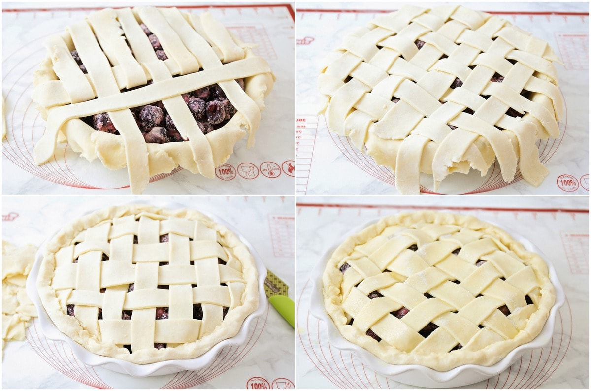 How to make a lattice crust for cherry pie