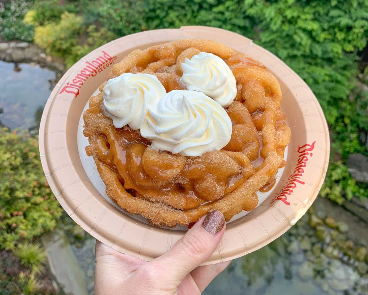 Churro Funnel Cake - best treat at Disneyland