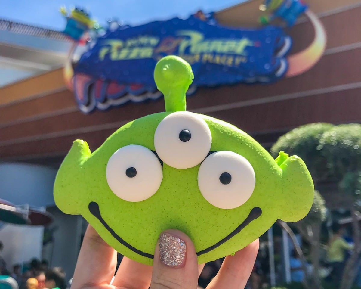 Alien macaron from Pizza Planet