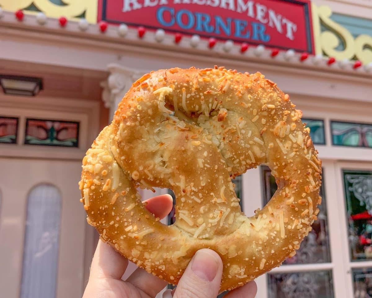 Cream cheese filled pretzel