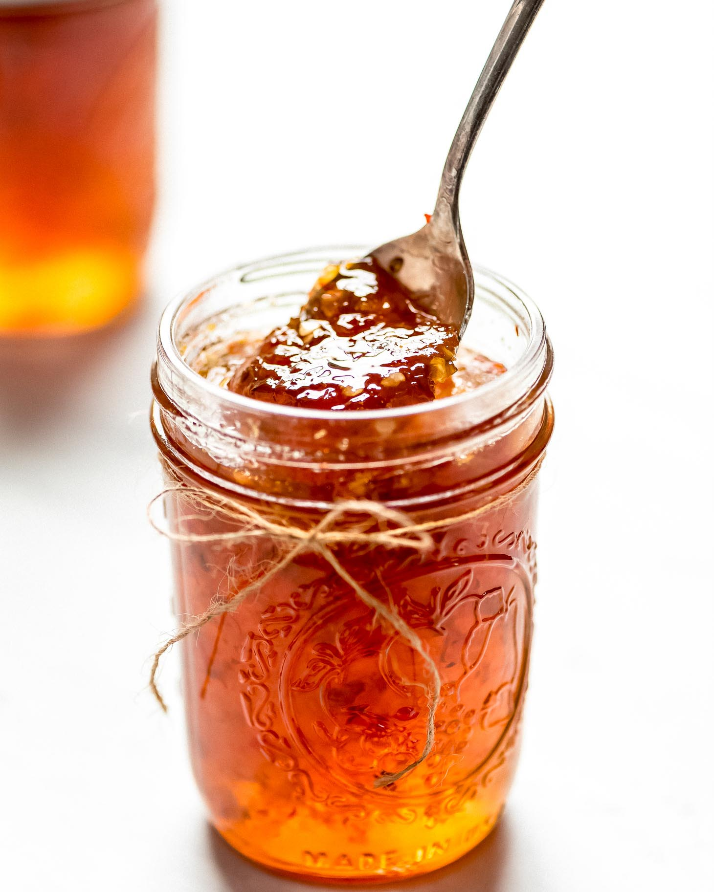 Hot pepper jelly recipe in jar