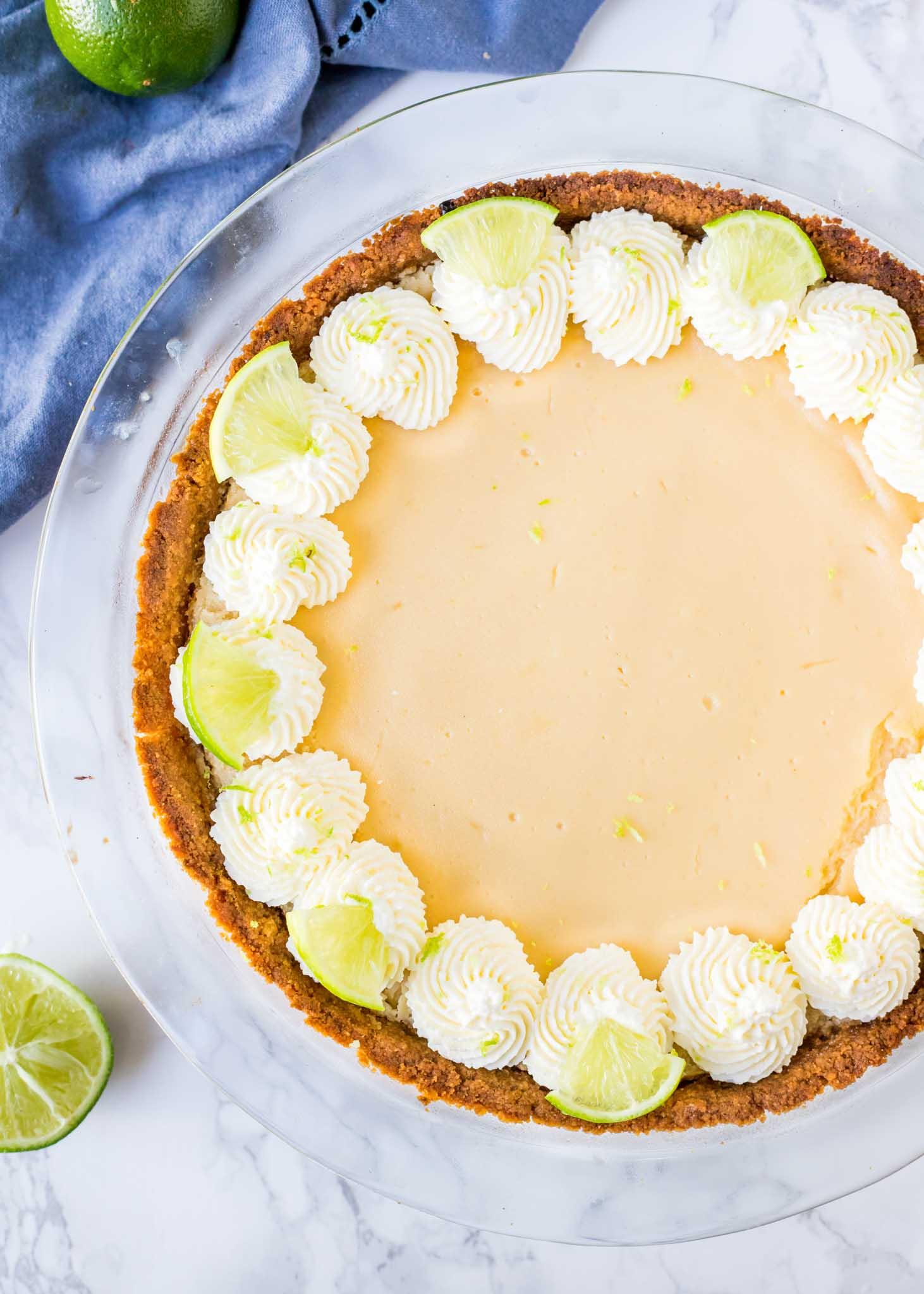 best key lime pie recipe in a pie dish