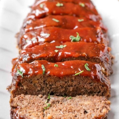 Tremendous Easy Homemade Meatloaf Recipe Just Like Mom Made Lil Luna Personalised Birthday Cards Cominlily Jamesorg