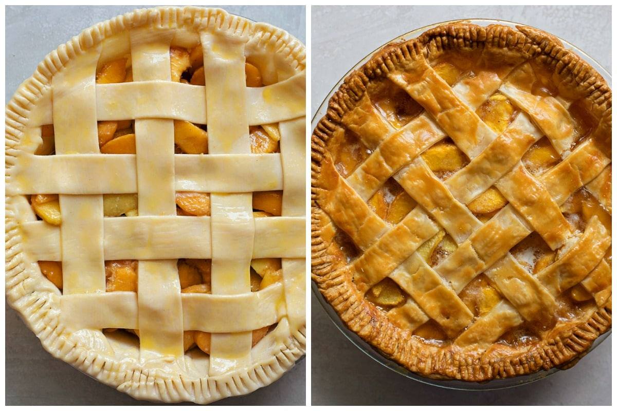Peach pie crust pictures