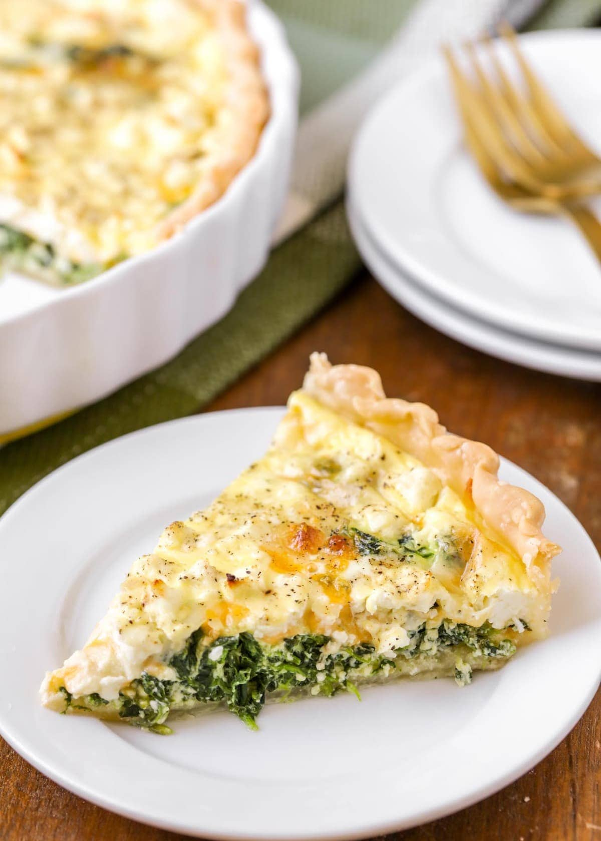Spinach Quiche Recipe With Feta Cheese Lil Luna