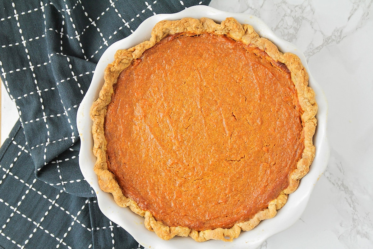 freshly baked southern sweet potato pie