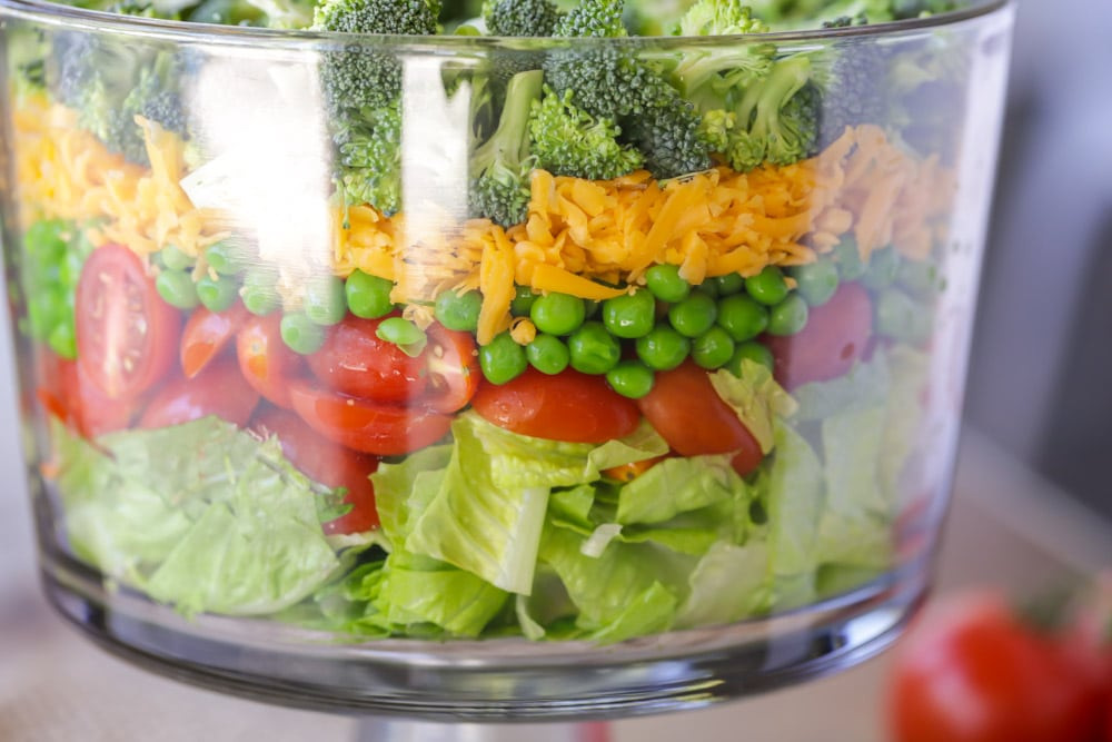How to make a 7 layer salad
