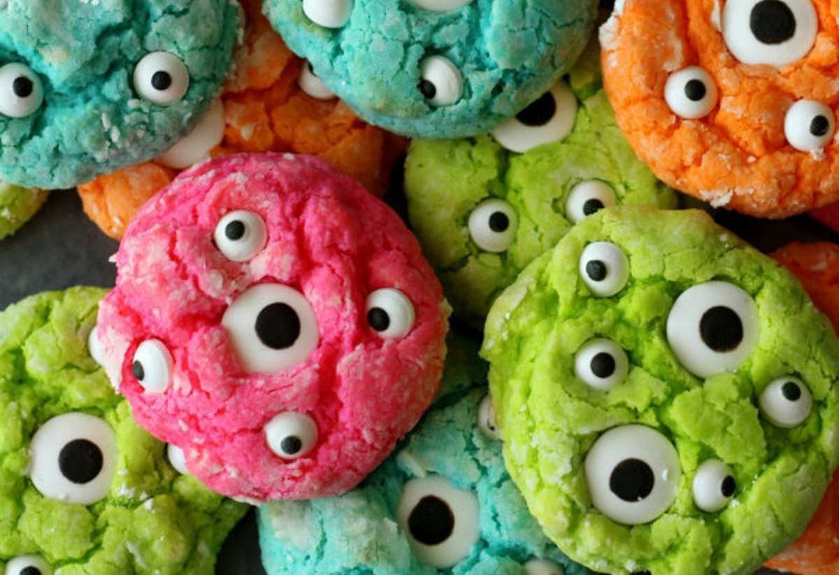 Halloween Cookies - monster eye cookies