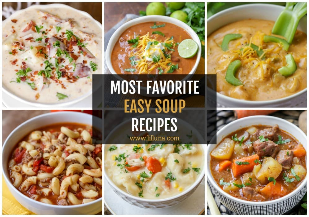 Easy Soup Recipes Collage