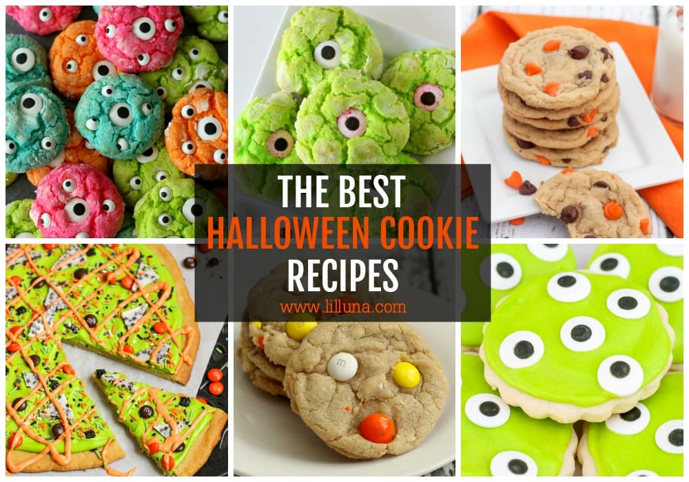 Collage of Halloween Cookie Recipes