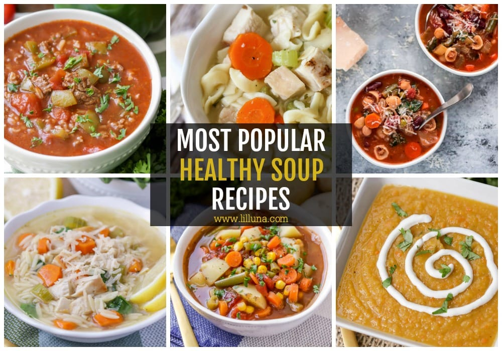 popular healthy soup recipes collage