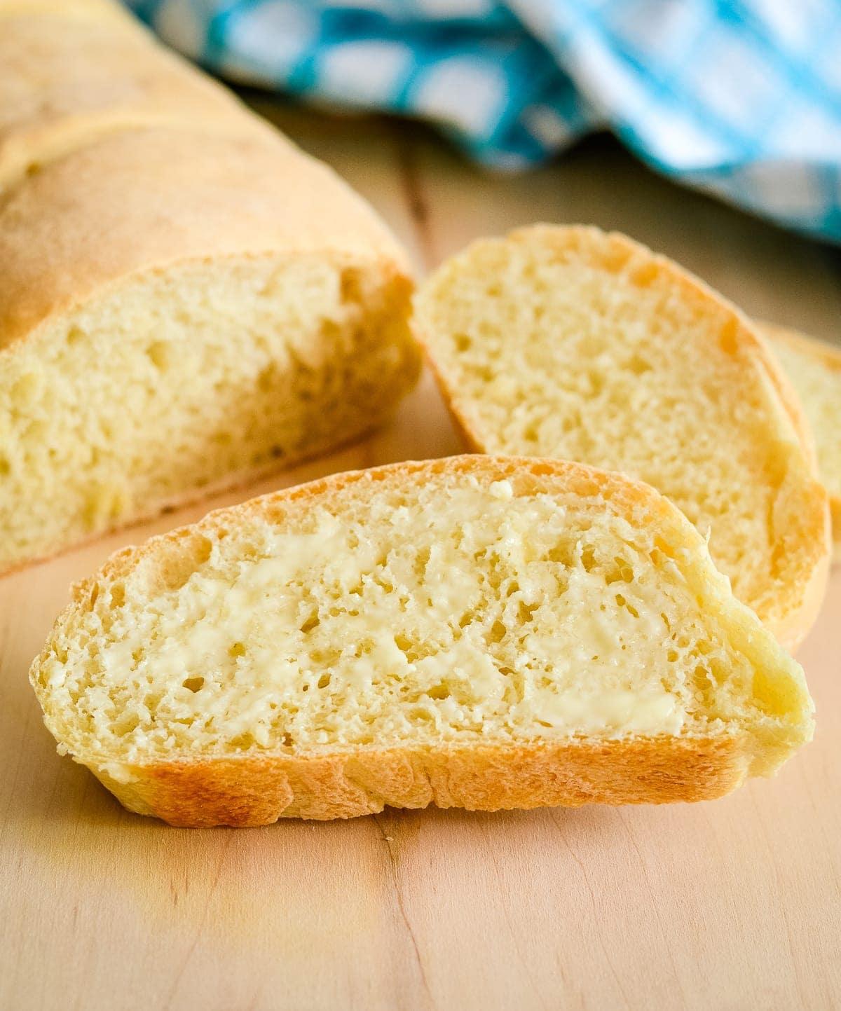 slices of italian crusty bread