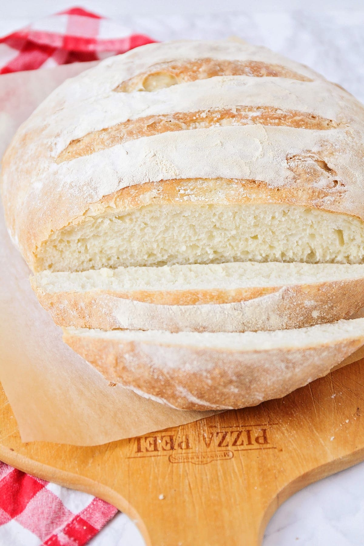 no knead bread recipe close up