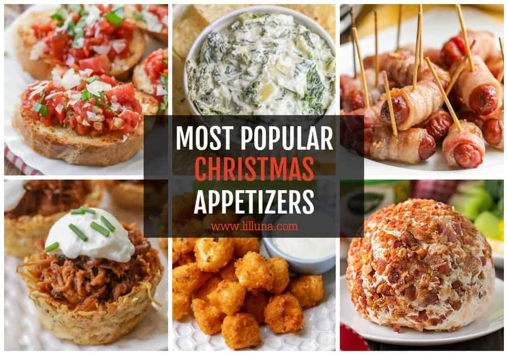 Collage of Christmas Appetizers