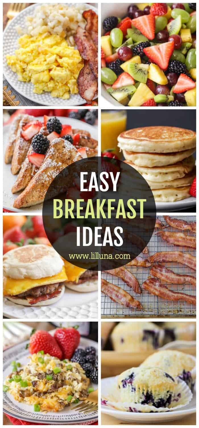 30 Quick And Easy Breakfast Ideas Lil Luna