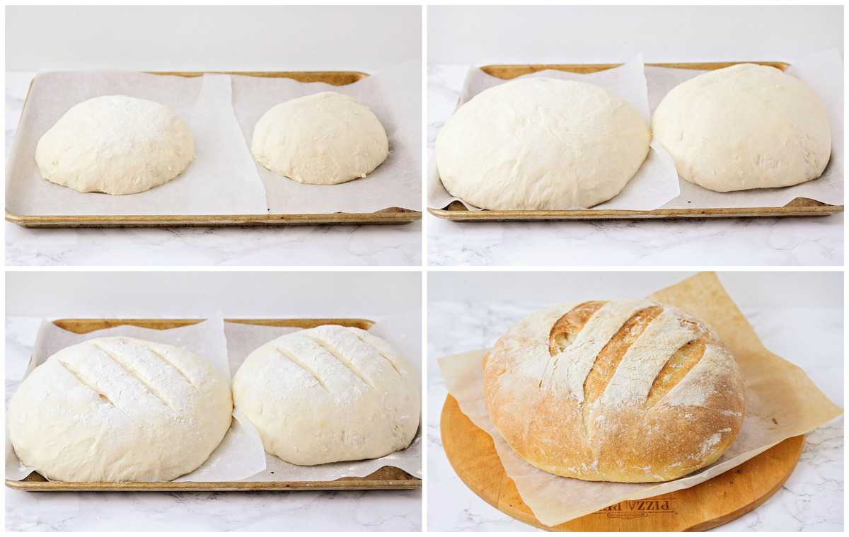Forming loaves of bread