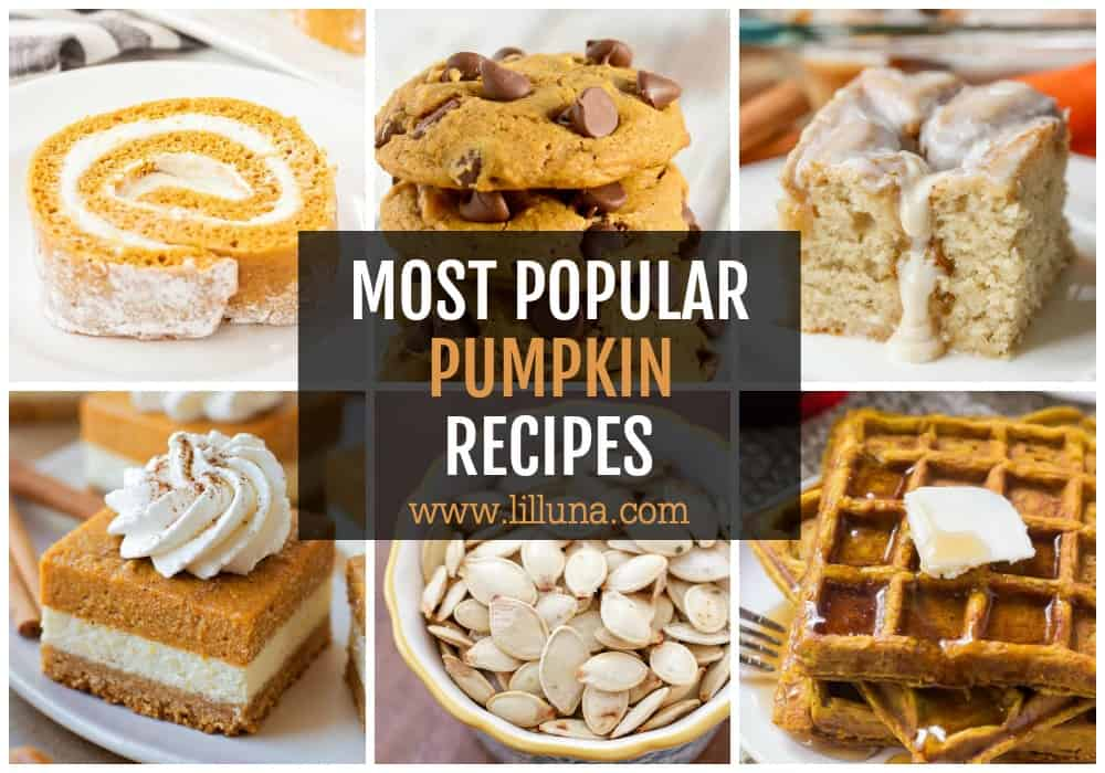 Collage of most popular pumpkin recipes