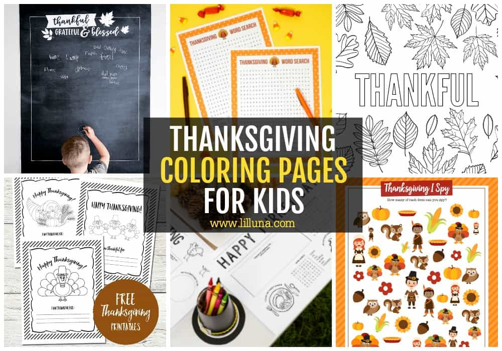 FREE Thanksgiving Coloring Pages Lil' Luna