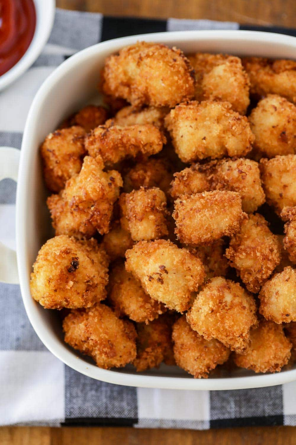 Popcorn chicken recipe in dish