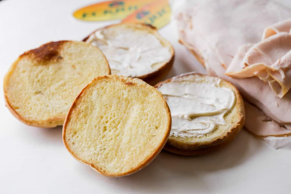Toasted buns for Turkey Cranberry Sandwich recipe