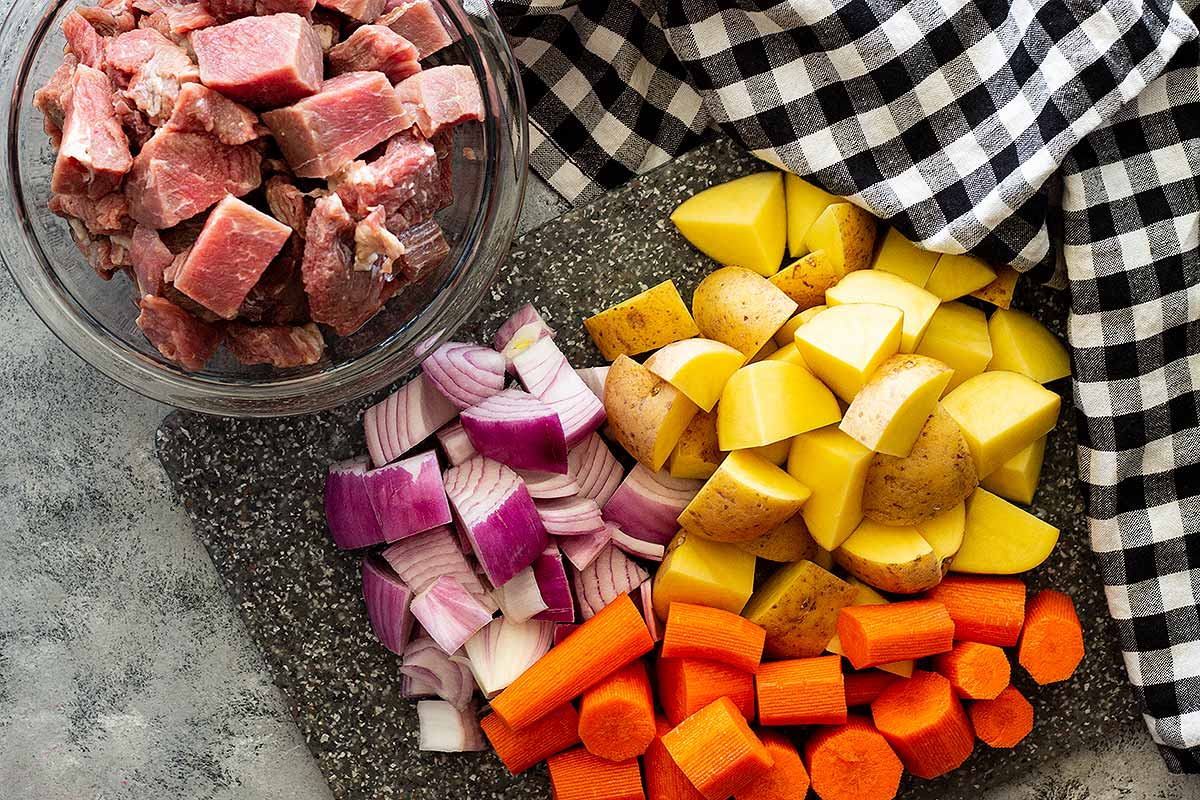 Ingredients for Mexican Beef Stew Recipe