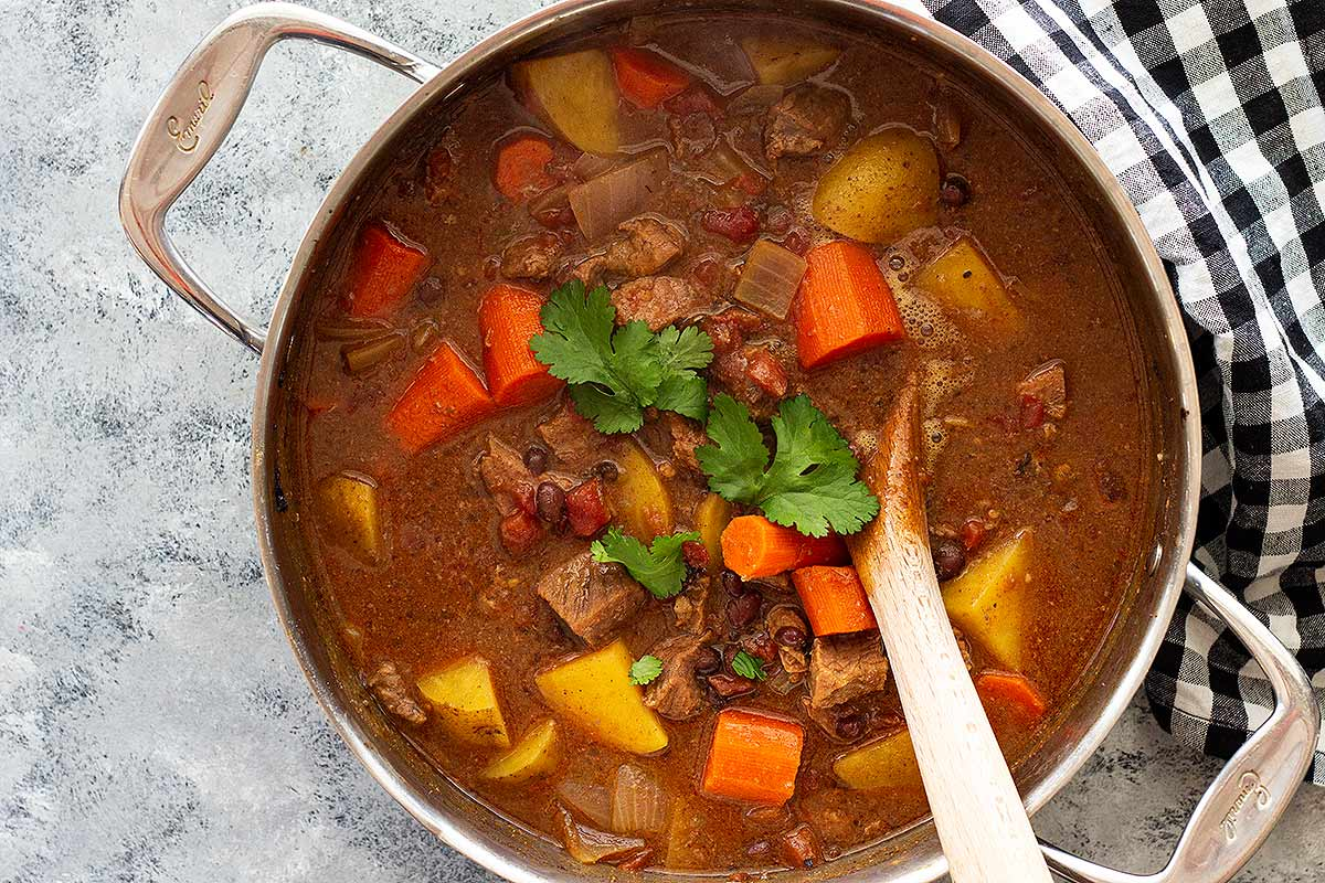 A pot of Mexican Beef Stew
