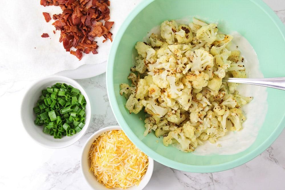 Ingredients for cauliflower casserole recipe
