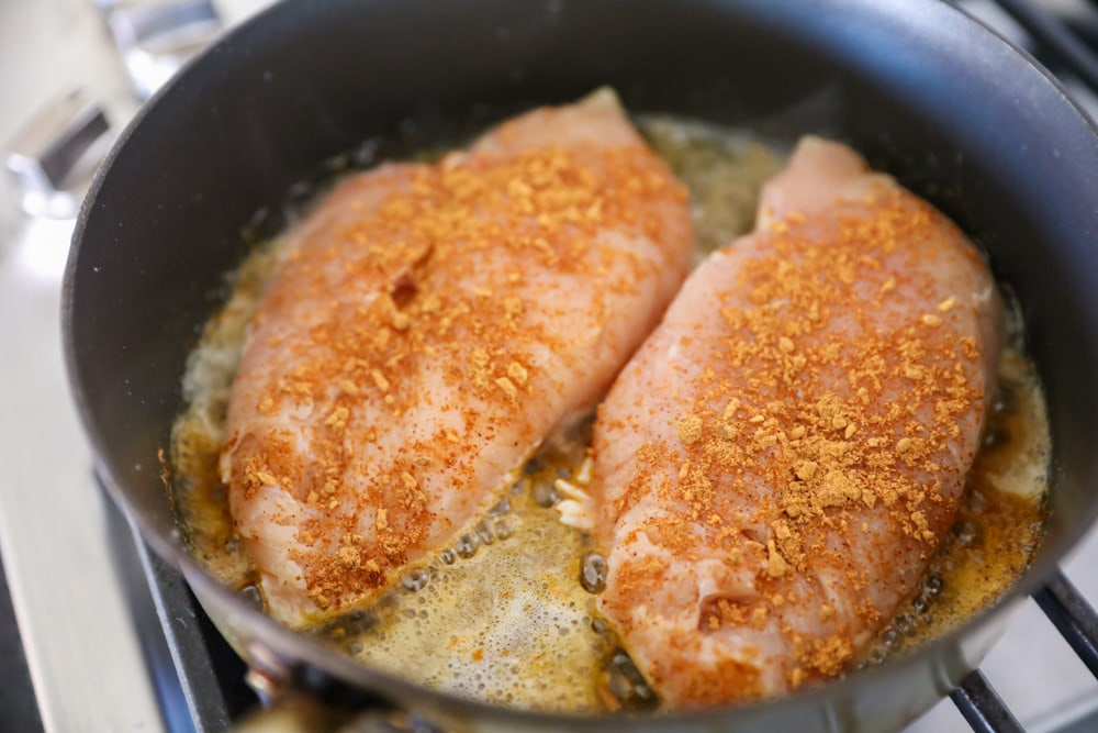 Cooking chicken breasts for chicken taco salad recipe
