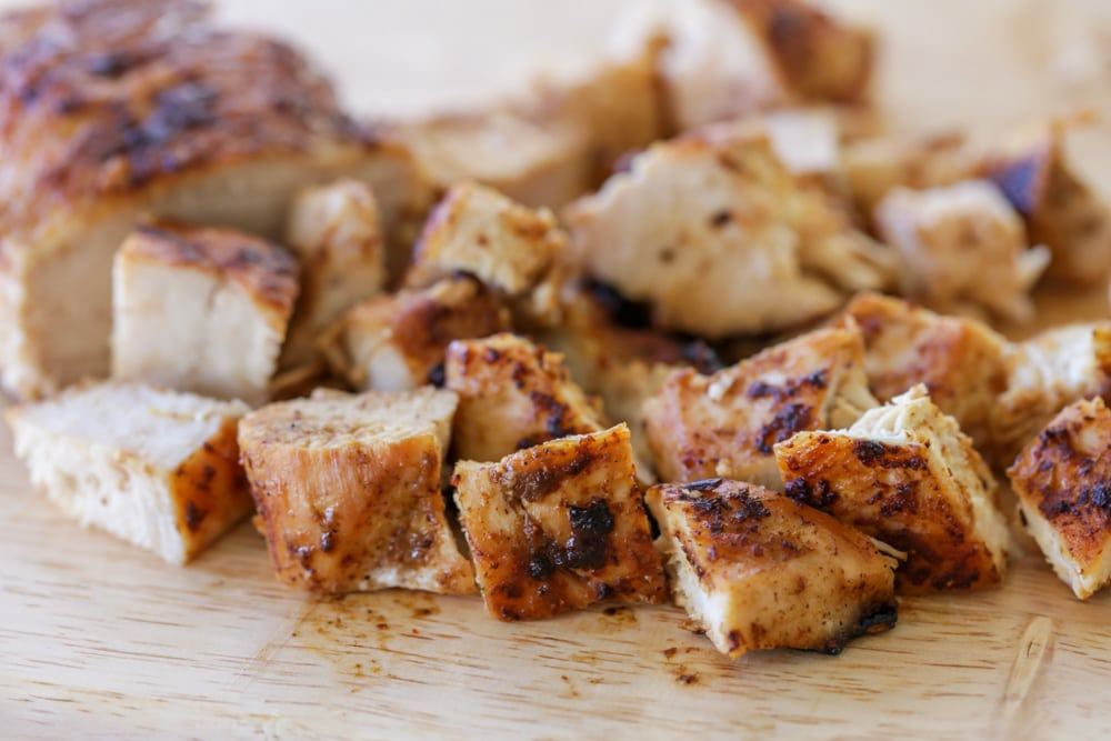 Cubed chicken for taco salad recipe