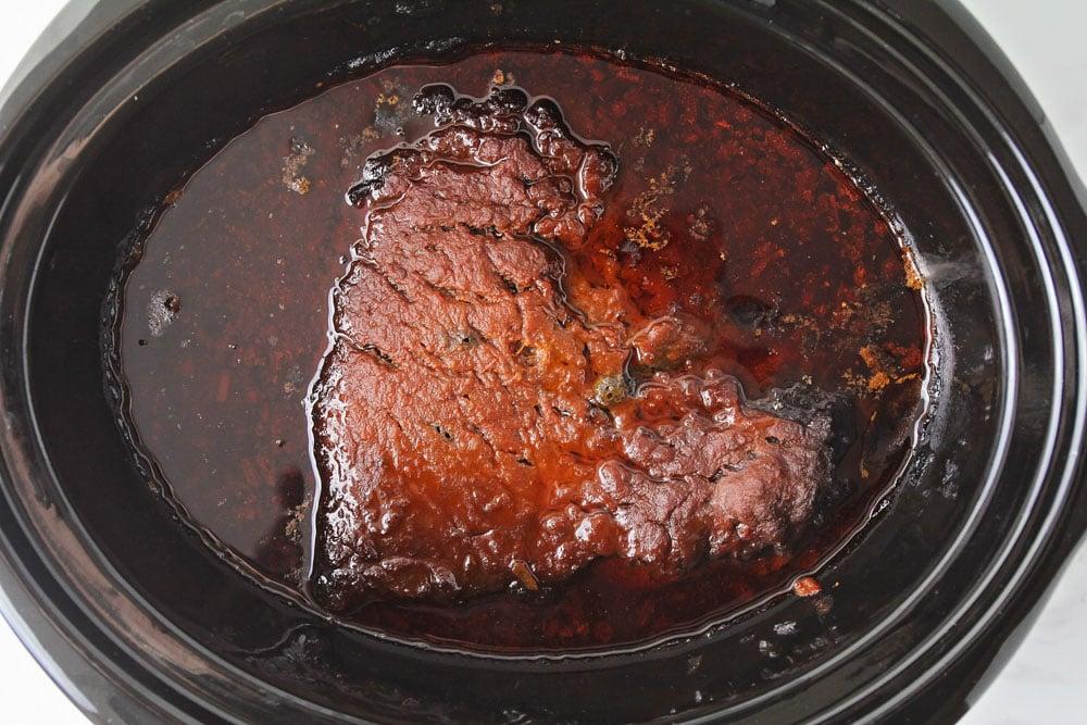 Beef brisket in the crock pot