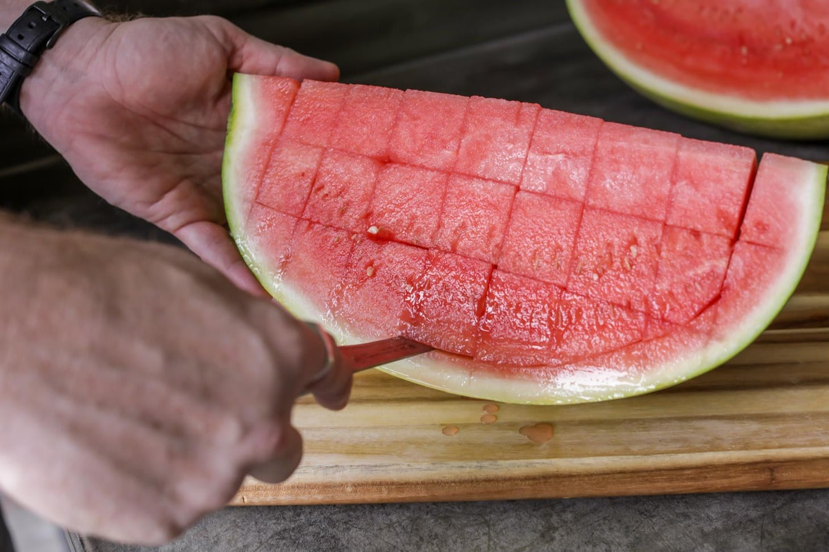How to cut up a watermelon