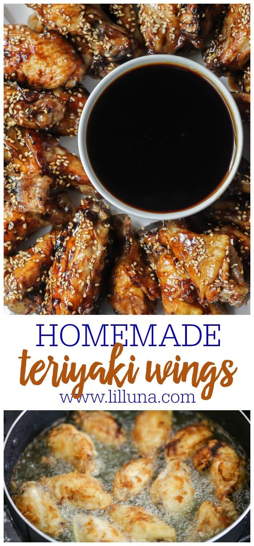 Teriyaki Chicken Wings on dish