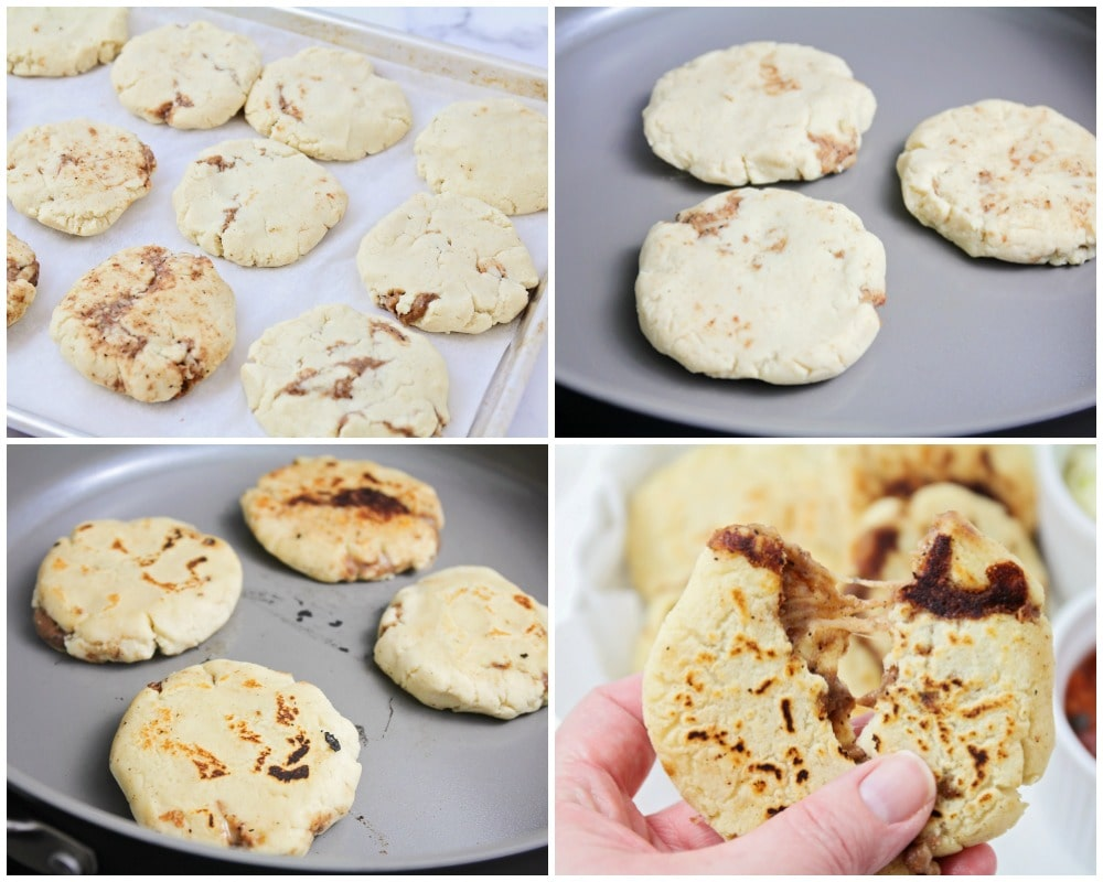 Step by step photos for pupusa recipe